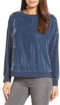 Kenneth Cole New York Women's Zipper Velvet Sweatshirt
