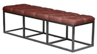 PTM Images Beford Upholstered Bench Upholstery: Burgundy
