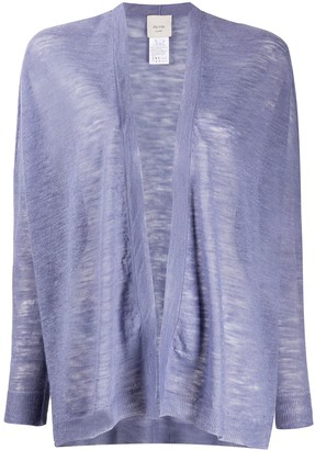 Alysi Semi-Sheer Open Front Cardigan