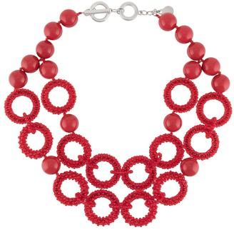 Emporio Armani Beaded Hoop Necklace
