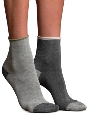 Lemon Women's Mismatched Silk Anklet Socks