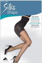 Silks Shape Firm Control Hourglass High Waisted Shaping Pantyhose With Sheer LegLACK