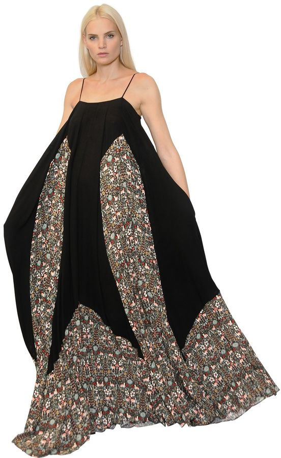 Veronique Branquinho Floral Printed Georgette Maxi Dress
