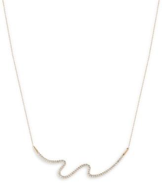 Carelle Brushstroke Diamond & 18K Yellow Gold N 62 Necklace
