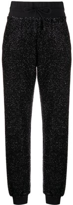 MSGM Metallic Threading Track Pants