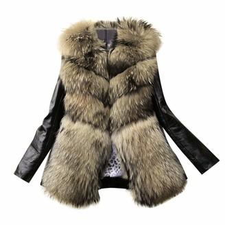 jieGorge Coats for Women Trendy Women Leather Zipper Jacket Slim Biker Motorcycle Coat Punk Outwear