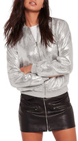 Missguided Metallic Bomber Jacket