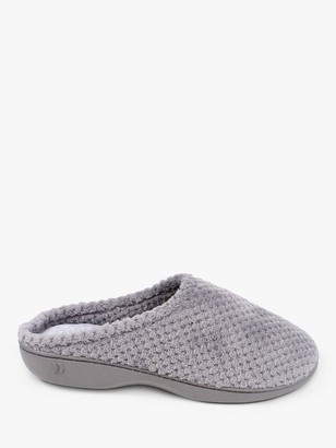totes Popcorn Terry Mule Slippers, Grey