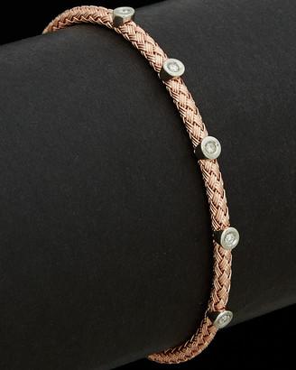Meshmerise 18K Italian Gold Over Silver 0.10 Ct. Tw. Diamond Bracelet