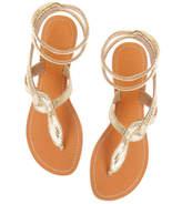 Aspiga Cobra Flat Gold Sandal