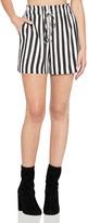 BCBGeneration Striped Drawstring Utility Shorts