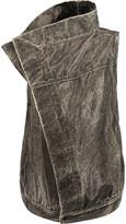 Rick Owens Dark Shadow coated textured-cotton gilet