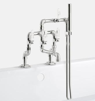 Rejuvenation Elan Vital Deck Mounted Tub Filler With Hand Shower