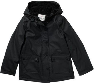Urban Republic Faux Shearling Lined Raincoat (Big Girls)