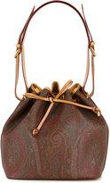 Etro paisley patterned drawstring fastening bucket bag - women - Calf Leather - One Size