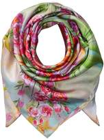 Echo Painted Tulip Silk Square Scarf Scarves