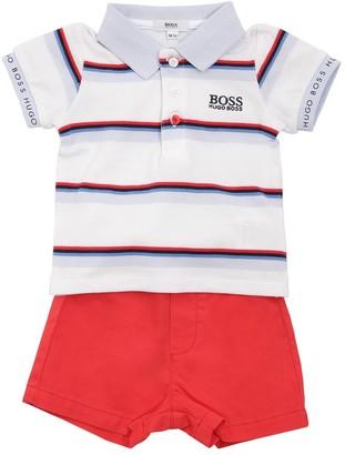 HUGO BOSS Cotton Pique Polo Shirt & Shorts