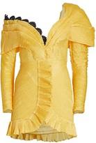 Raisa Vanessa Off-The-Shoulder Ruffle Mini A-Line Dress