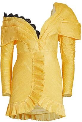 Off-The-Shoulder Ruffle Mini A-Line Dress