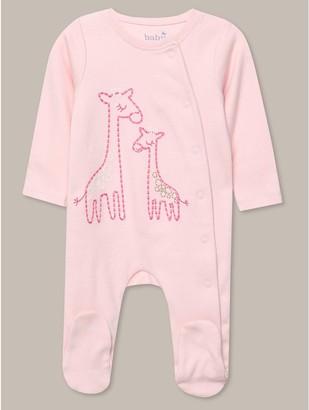 M&Co Giraffe sleepsuit (Tinybaby-18mths)