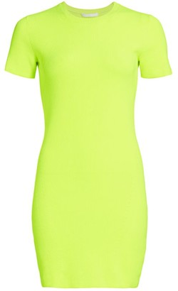 Helmut Lang Short-Sleeve Mini Dress