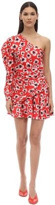 Borgo de Nor Christina Floral Print Silk Mini Dress