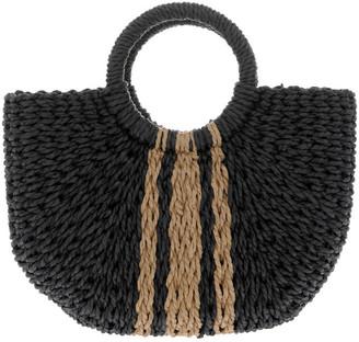 Miss Shop Straw Basket Stripe Bag