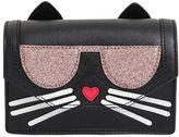 Karl Lagerfeld K Kocktail Cat Faux Leather Shoulder Bag