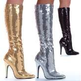 """Sunny&Baby Women's Mid Calf Almond Toe Shoes 5"""" Stiletto Heel Sequins Knee High Sexy Glitter Boots for Ladies Comfort Upper ( Color : , Size : )"""