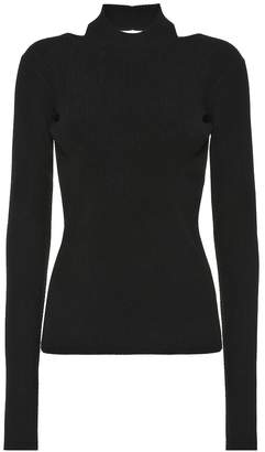 Helmut Lang Ribbed-knit turtleneck top