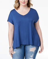 ING Trendy Plus Size Printed-Back Top