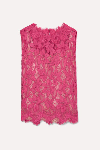Dolce & Gabbana Corded Lace Top - Pink