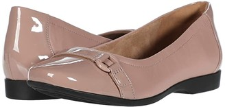 Clarks Un Darcey Go (Dusty Pink Leather Combination) Women's Shoes