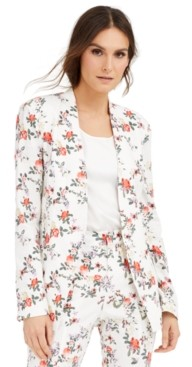 INC International Concepts Inc Floral-Print Blazer, Created for Macy's