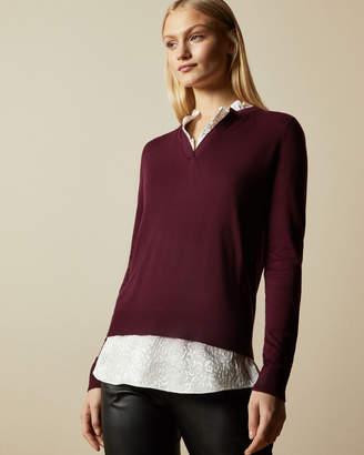 Ted Baker DOTIEY Jacquard mockable knit jumper