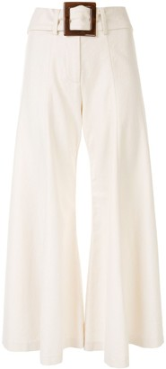 Alexis Markos flared cropped trousers