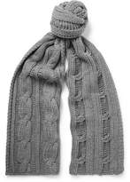 Loro Piana Cable-knit Baby Cashmere Scarf - Gray