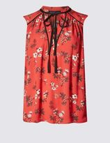 Marks and Spencer PETITE Floral Print Sleeveless Blouse