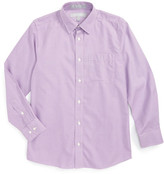 Nordstrom Herringbone Cotton Poplin Dress Shirt (Big Boys)