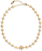 Noir Gold-tone crystal choker