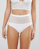 Asos Square Cut Out High Waist Bikini Bottom