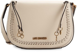Love Moschino Whipstitched Faux Leather Crossbody Bag
