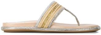 Rene Caovilla Gioia embellished jute sandals