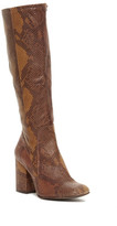 Free People High Ground Snake Embossed Tall Boot