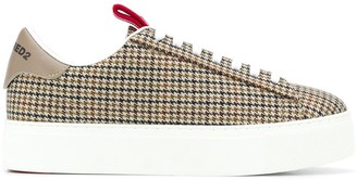 DSQUARED2 Chunky Sole Lace-Up Trainers
