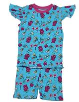 New Jammies Blue Flower Organic Pajama Set - Infant & Kids