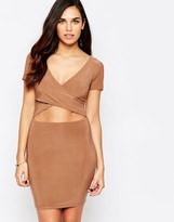 AX Paris Bodycon Dress With Midriff Cut Out