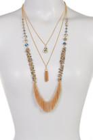 Joe Fresh 3 Row Long Necklace