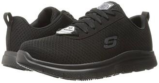 Skechers Flex Advantage SR - Bendon (Black Mesh/Water/Stain Repellent Treatment) Men's Lace up casual Shoes