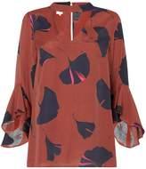 Linea Taylor ginko print choker detail blouse